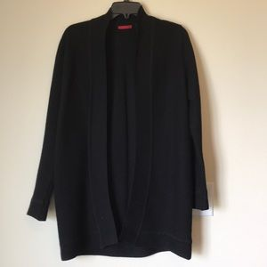 Red black long sleeve cardigan size M